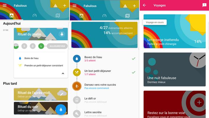 Applications android : Fabulous, pour prendre de bonnes et seines habitudes