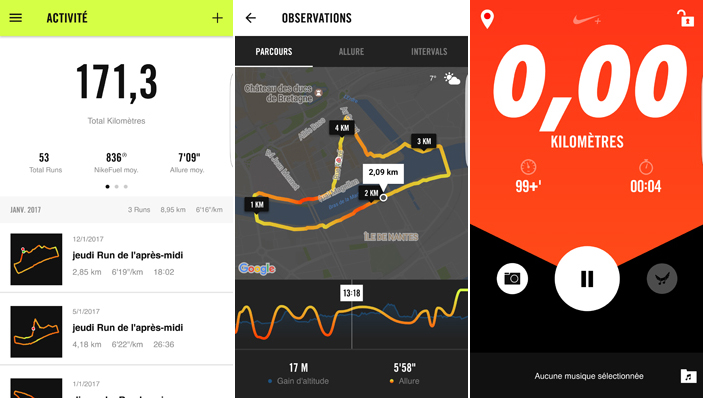 Applications android : Nike+, pour suivre nos running