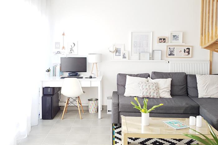 Maison claire et rangée au style scandinave