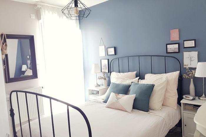 chambre bleu et beige make you happy. Black Bedroom Furniture Sets. Home Design Ideas