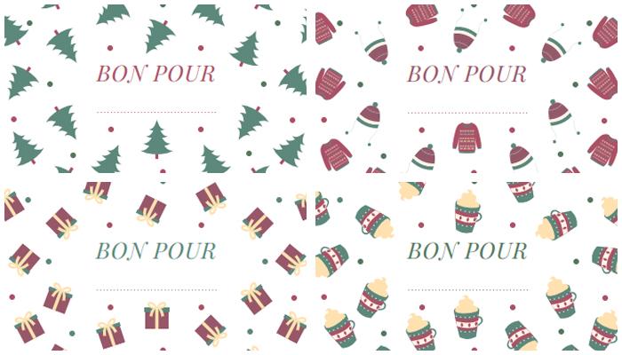 Bon pour activités de Noël