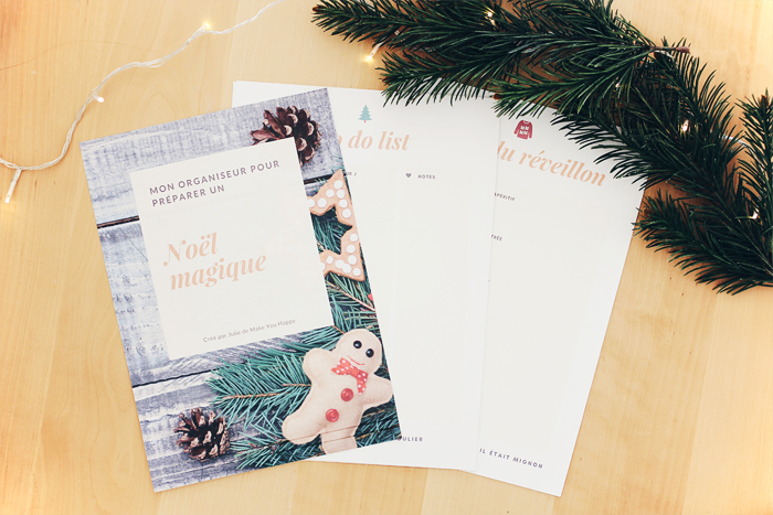 Votre organiseur pour préparer Noël : to do list, liste de cadeaux, repas de réveillon...