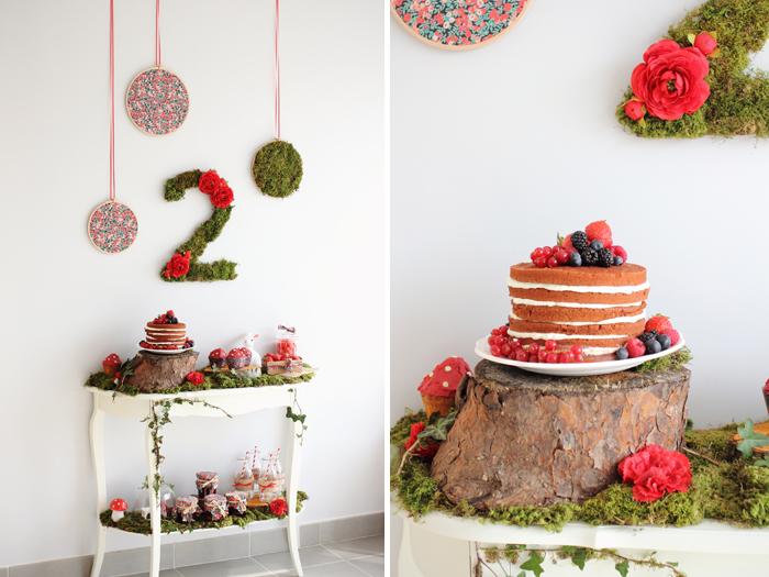 Sweet table anniversaire enfant forêt