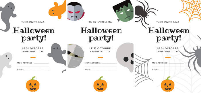 Invitations Halloween à imprimer