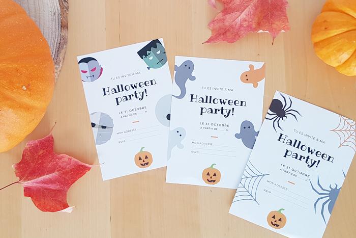 Mini checklist pour préparer Halloween et invitations à imprimer