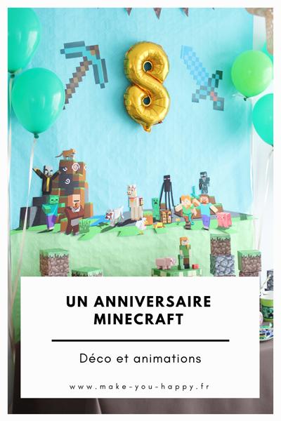 Un anniversaire Minecraft : Idée déco et animations