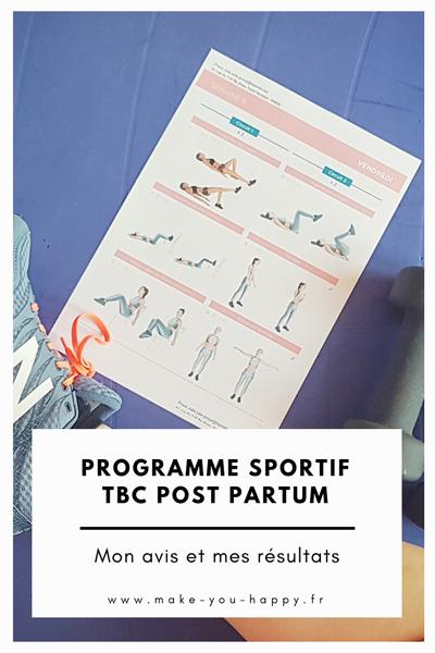 Mon test du programme de sport TBC post partum : mon avis et mes résultats