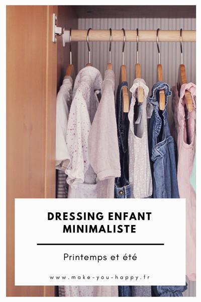 Liste de pièces pour un dressing enfant minimaliste
