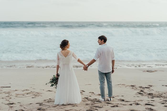 Notre renouvellement de voeux pour nos 10 ans de mariage sur la plage