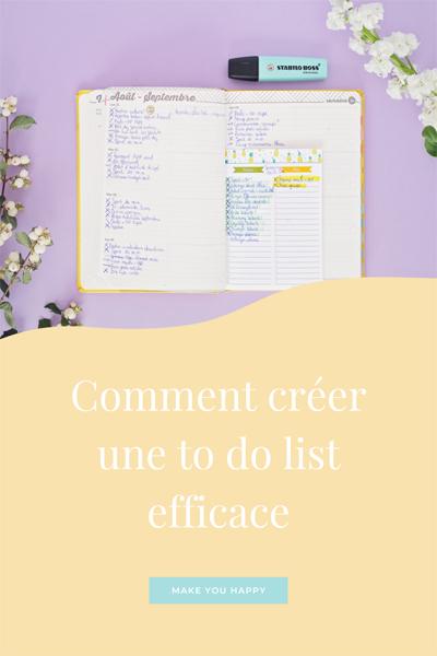 Astuces et bonnes pratiques pour créer et suivre une to do list