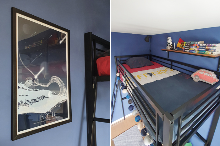 Chambre adolescent Harry Potter et Star Wars