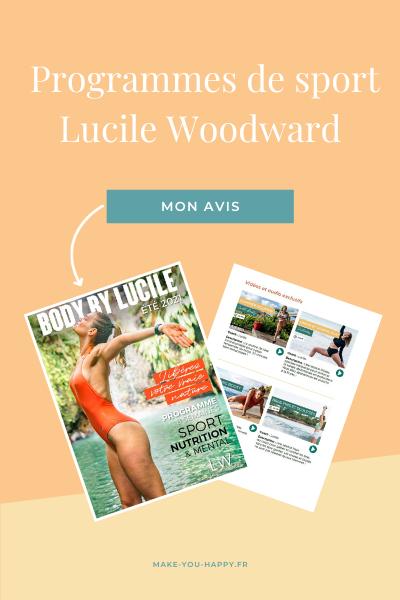Les programmes de sport de Lucile Woodward : mon avis